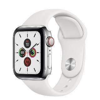 Apple Watch 5 44mm nerezové tělo a safírové sklíčko + LTE Silver