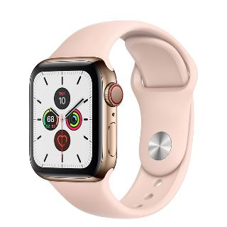 Apple Watch 5 40mm nerezové tělo a safírové sklíčko + LTE Gold