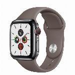 Apple Watch 5 44mm nerezové tělo a safírové sklíčko + LTE