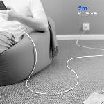 Nabíjecí a datový kabel USB-C 2m E-MARK 3A
