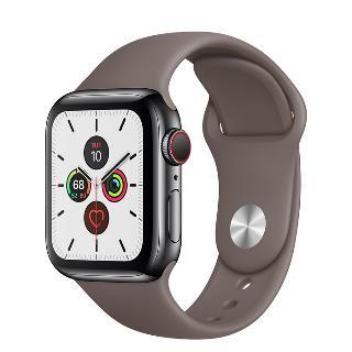 Apple Watch 5 44mm nerezové tělo a safírové sklíčko + LTE Grey
