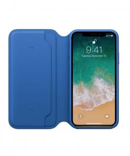 Apple Folio kožené pouzdro pro iPhone X/XS elektro modré